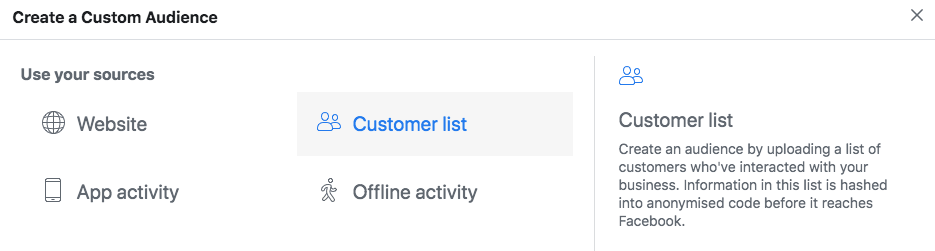 Upload Contacts to Facebook Ads Manager